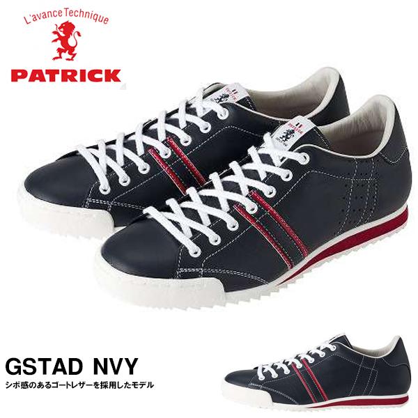 送料無料 スニーカー パトリック PATRICK メンズ レディース GSTAD NVY グスタード ネイビー レザーシューズ シューズ 靴 レザー ローカットシューズ