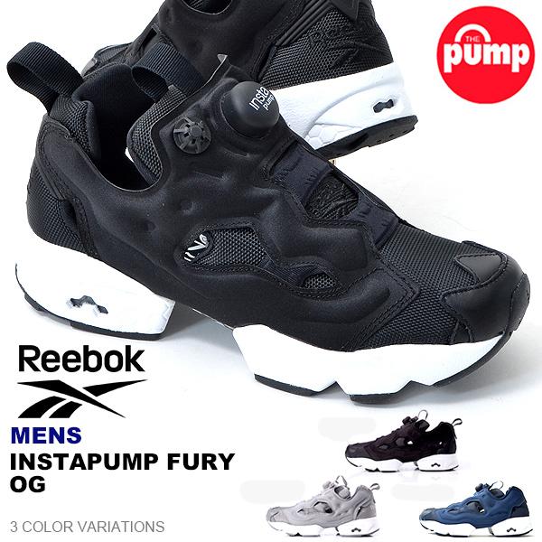 REEBOK INSTA PUMP FURY OG B/ W 黒 メンズ ポンプフューリー スニーカー リーボック