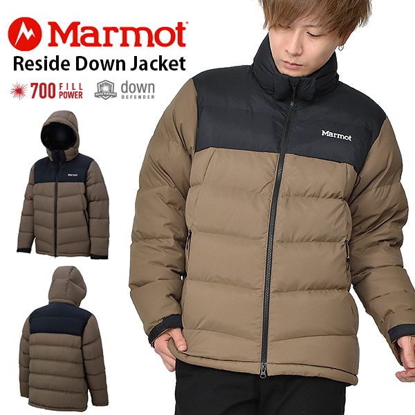 送料無料 ダウン ジャケット Marmot マーモット Reside Down Jacket リサイドダウンジャケット TOMOJL29 CVBK メンズ ブラウン アウトドア キャンプ 30%off