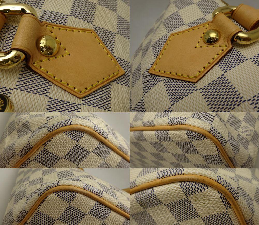 Authentic LOUIS VUITTON Damier Azur Saleya PM Tote Bag N51186/18655