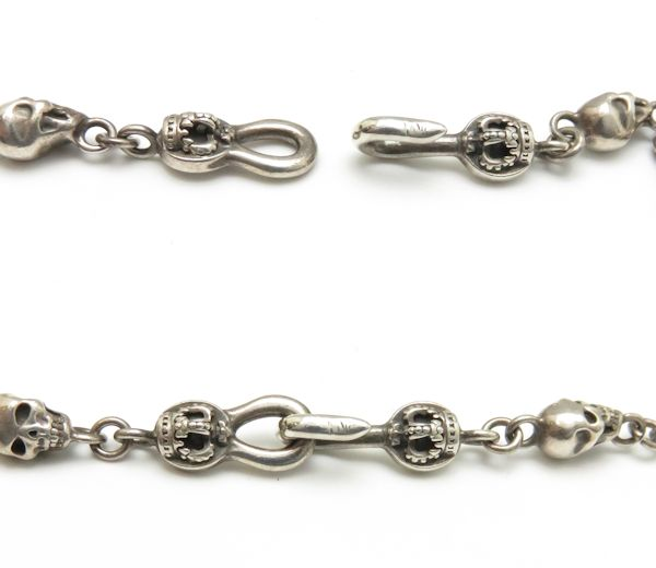 Authentic JUSTIN DAVIS Sterling Silver 925 Starlight SPJ290 Skull Endear Chain Necklace SPJ290 /93732