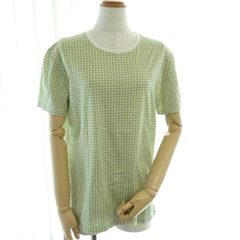 【緊急!大幅値下げ】エルメス HERMES Tシャツ Hロゴ コットン サイズ S /040218 ラクトグリーン【中古】