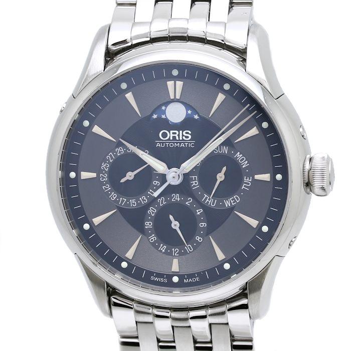 【緊急!大幅値下げ】オリス ORIS アートリエ コンプリケーション 01 582 7592 メンズ ムーンフェイズ 自動巻き/34738 【中古】 【クリーニング済】 腕時計