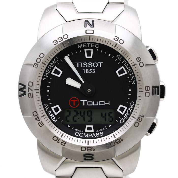 【緊急!大幅値下げ】Tissot ティソ T-Touch 男性用 メンズ 腕時計 T33.1.588.51 Tタッチ/34775 【中古】 【クリーニング済】
