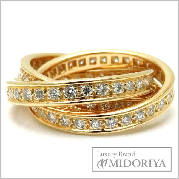 Pawn Shop Midoriya Phase Cartier Cartier Trinity Ring Full Diamond
