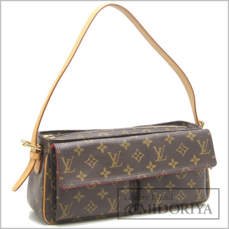 6c6ae4aaee7ba Authentic LOUIS VUITTON Monogram Viva Cite MM Shoulder Bag M51164 Brown   59139