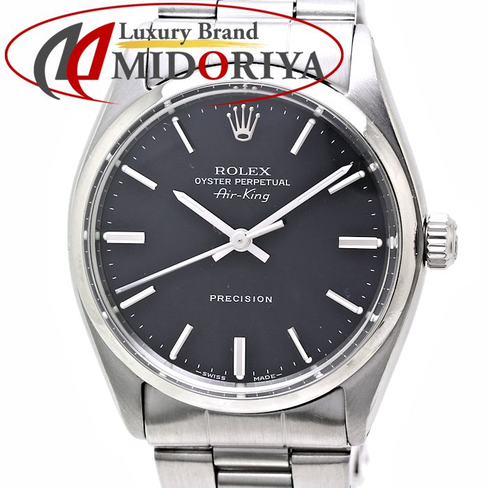 Rolex ROLEX air King 5500 antique men black clockface /35562 watch vintage