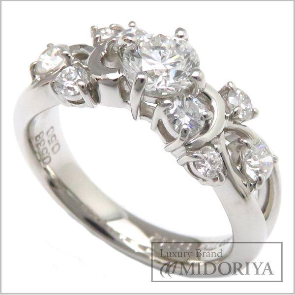 【緊急!大幅値下げ】ダイヤリング 0.538ct 0.50ct Pt900 12号 プラチナ 指輪/63142【中古】【クリーニング済】