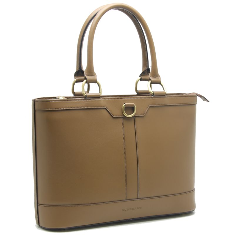 Burberry tote bag leather yellow ocher BURBERRY/59159