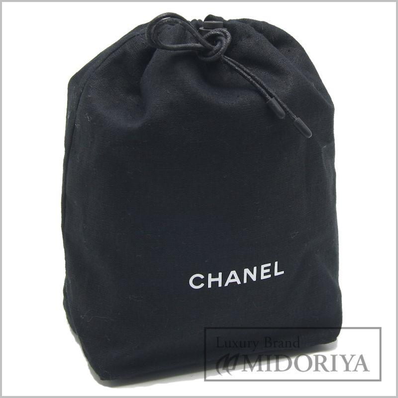【緊急!大幅値下げ】シャネル 巾着ポーチ ノベルティ 黒 ブラック CHANEL/59271【中古】【クリーニング済】