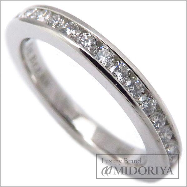 【緊急!大幅値下げ】デビアス DE BEERS ハーフエタニティリング ダイヤモンド16P Pt950 7号 プラチナ 指輪/096780【中古】【クリーニング済】