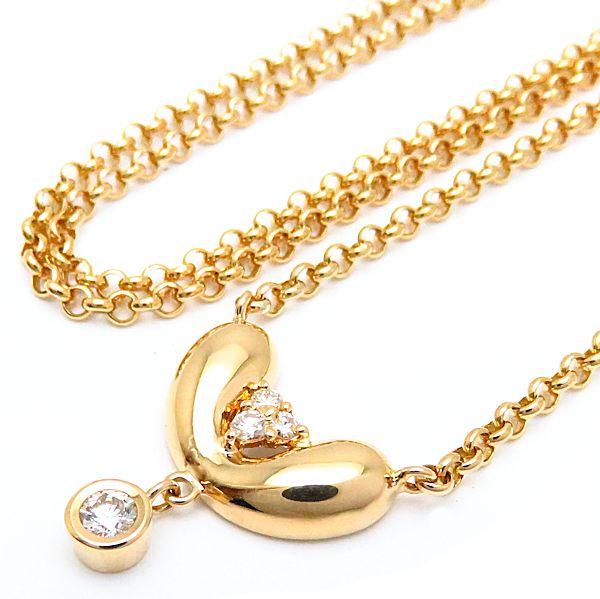 【緊急!大幅値下げ】ポーラ POLA ネックレス ダイヤモンド 750YG 18金イエローゴールド ペンダント/096790【中古】【クリーニング済】