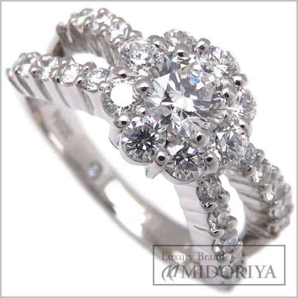 【緊急!大幅値下げ】ポンテヴェキオ Ponte Vecchio ダイヤモンドリング ダイヤ0.325ct/0.63ct Pt900 7.5号 プラチナ 指輪/096795【中古】【クリーニング済】