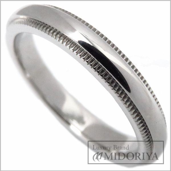 【緊急!大幅値下げ】ティファニー TIFFANY クラシックミルグレインリング 3mm Pt950 9号 プラチナ 指輪/096800【中古】【クリーニング済】