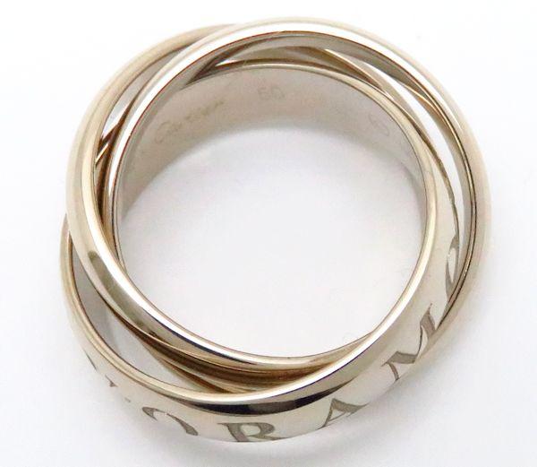カルティエ CARTIER トリニティリング 1998年クリスマス限定 B4033200 750WG50 9 5号 指輪 097000ymwONn0v8P