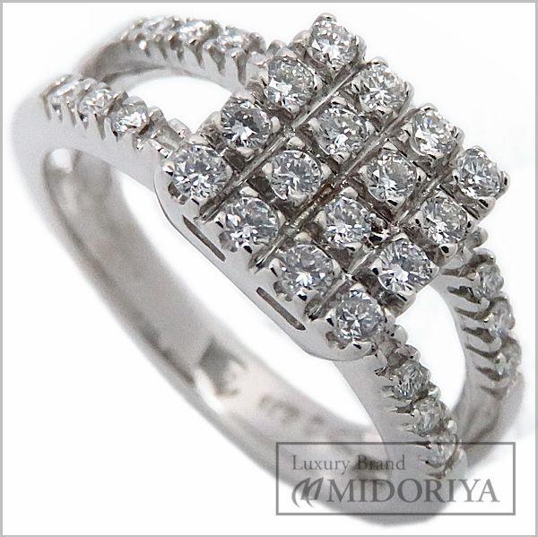 【最大3万円OFF&3倍】ポンテヴェキオ Ponte Vecchio リング ダイヤモンド0.35ct 750WG 12号 指輪/097006【中古】