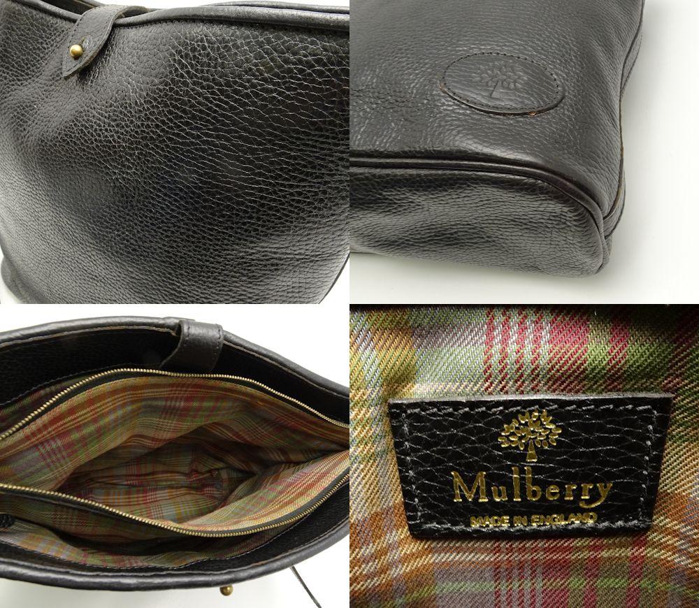2efb3037561 ... Take circle berry mulberry shoulder bag slant; leather black black  /59727 ...