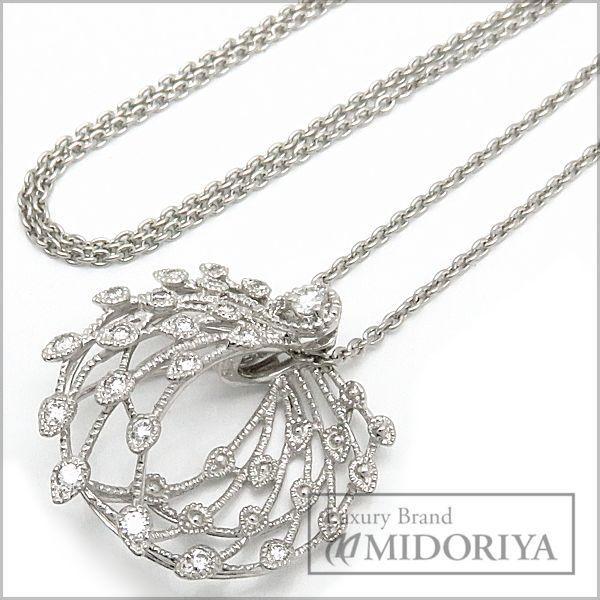 【最大3万円OFF&3倍】クイーン Queen Jewelry ネックレス ダイヤモンド0.43ct Pt950 ペンダント/097088【中古】