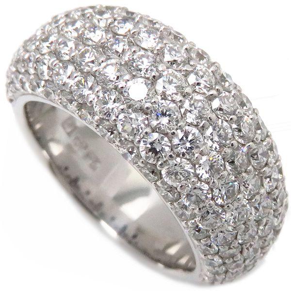 【最大3万円OFF&3倍】ポンテヴェキオ Ponte Vecchio パヴェダイヤリング ダイヤモンド3.00ct K18WG 13号 指輪/097225【中古】