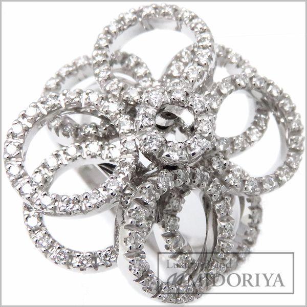 【最大3万円OFF&3倍】ポンテヴェキオ Ponte Vecchio リング ダイヤモンド0.85ct 750WG 13号 指輪/097226【中古】