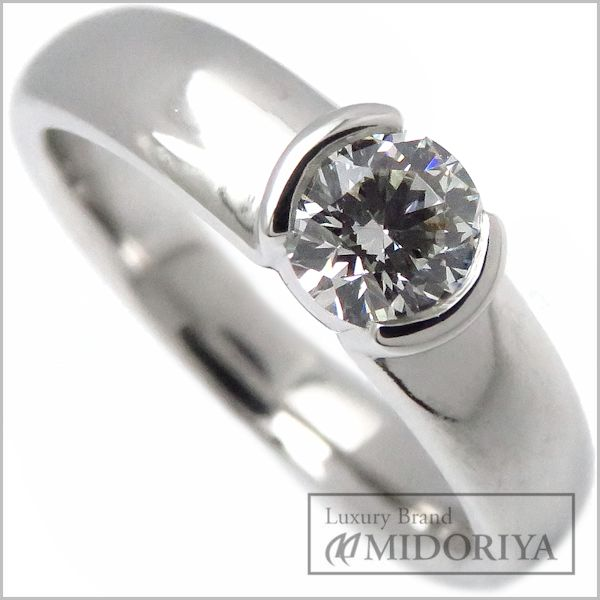 【ポイント3倍!】ティファニー TIFFANY ダイヤモンドリング 一粒ダイヤ Pt950 9号 指輪/097305【中古】