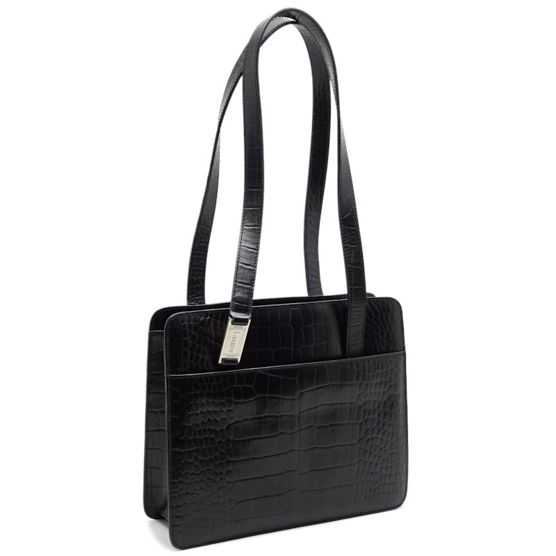 91d2ae4108 ... promo code for authentic lauren ralph lauren tote bag embossed leather  black 050155 free ship d73ae