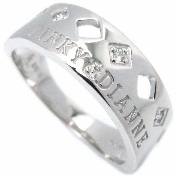 【最大3万円OFF&3倍】ピンキー&ダイアン Pinky&Dianne リング ダイヤモンド3P 750WG 15号 指輪/097377【中古】