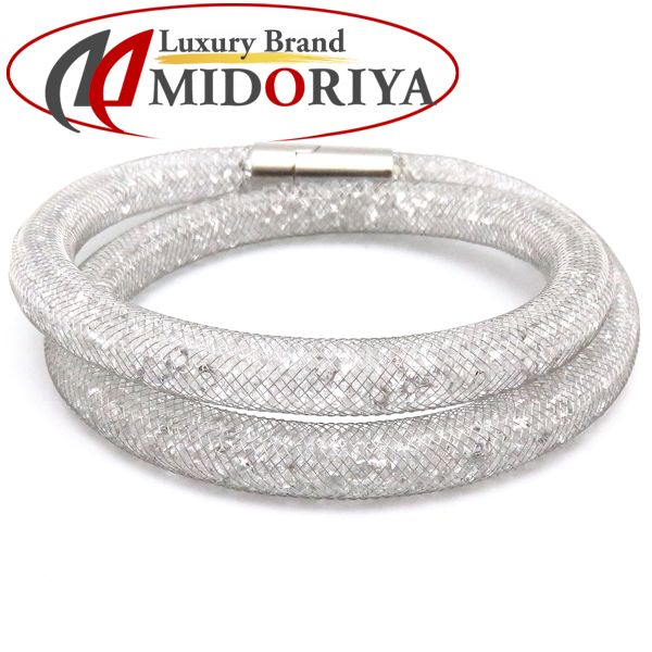 9748d28d3 Auth SWAROVSKI Silver Plated Stardust Bracelet Choker Combination  Crystal/097493 ...