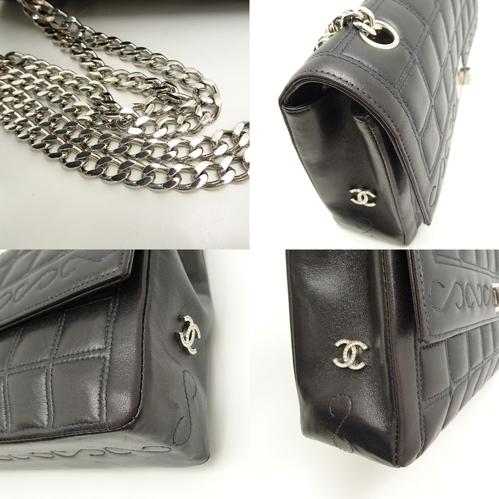 441dbe660230 Chanel CHANEL A16368 chocolate bar chain shoulder bag 2.55 black black  /051809