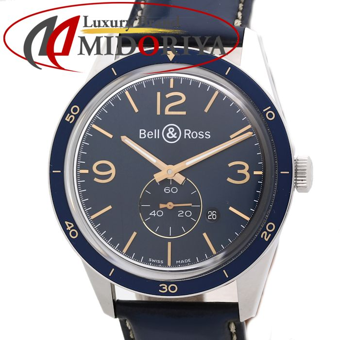 【最大3万円OFF&3倍】ベル&ロス Bell&Ross ヴィンテージ BR123 アエロナバル BRV123-BLU-ST メンズ /35054 【中古】 腕時計