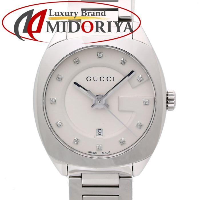 36a932331c3 Pawn shop MIDORIYA PHASE  Gucci GUCCI GG2570 collection 10P diamond Small  29mm YA142504 142.5 Lady s  35070 watch