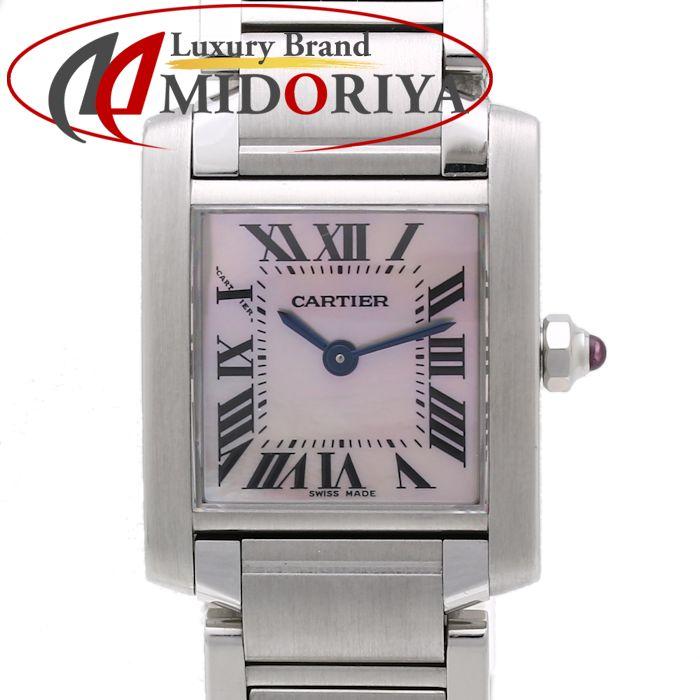 【最大3万円OFF&3倍】カルティエ Cartier タンクフランセーズ SM W51028Q3 ピンクシェル レディース /35107 【中古】 腕時計