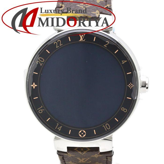 【最大3万円OFF&3倍】ルイヴィトン LOUIS VUITTON タンブールホライゾン モノグラム コネクテッド QAAA58 メンズ /35156 【未使用】 腕時計