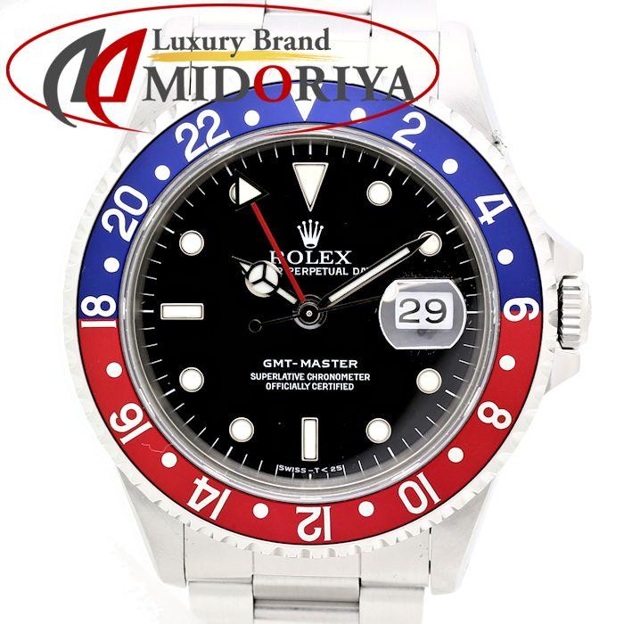 【最大3万円OFF&3倍】ロレックス ROLEX GMTマスター 16700 赤青ベゼル メンズ 自動巻き /35194 【中古】 【オーバーホール済み】腕時計