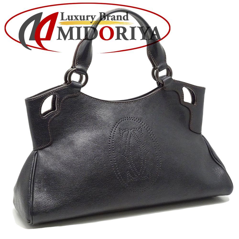 Authentic CARTIER Marcello de Cartier Handbag L1000833 Black  050716 FREE  SHIP 5903571355472