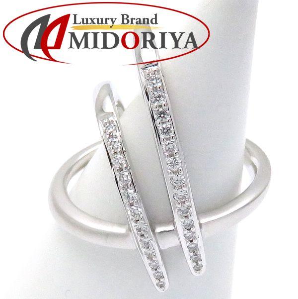 KARATI カラッチ ハラリング ダイヤモンド0.17ct K18WG 8号 UK119-2 指輪/097948【中古】