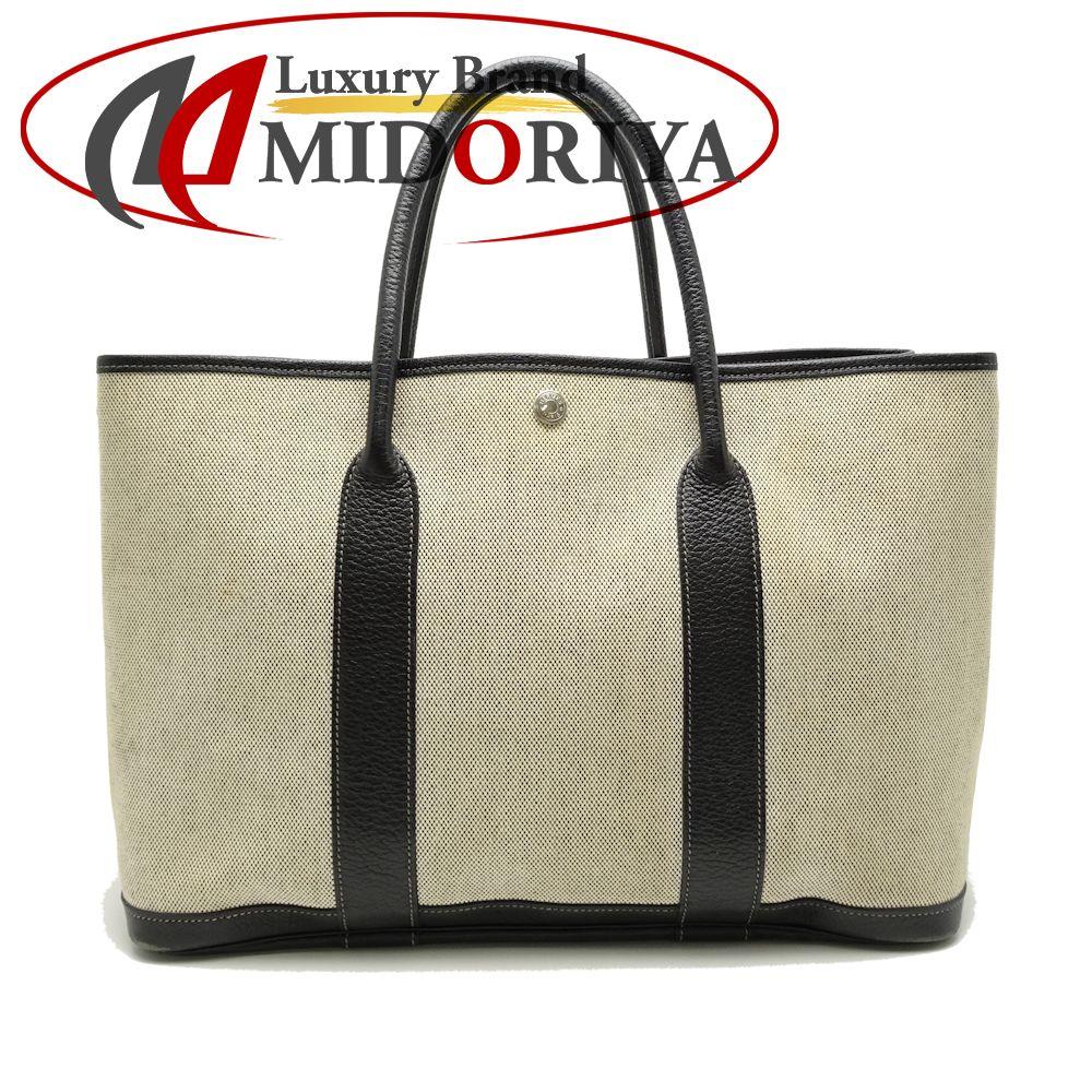 7898dc23d71 Hermes HERMES garden party PM トワルアッシュ X full black X gray tote bag /050969  ...