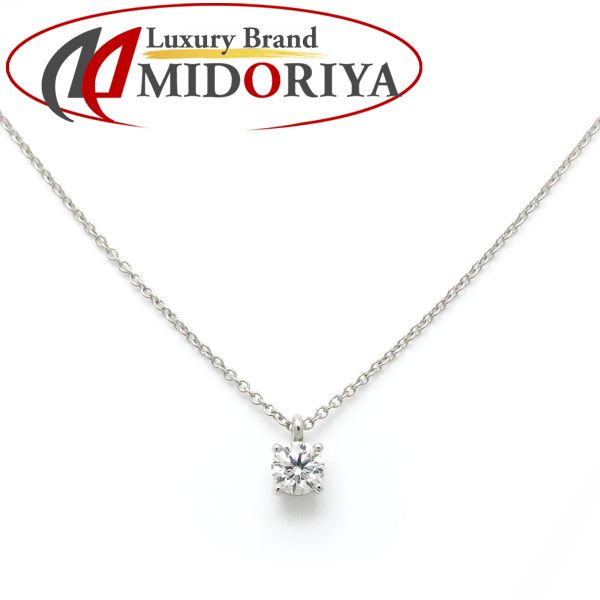 f03edee91 Tiffany TIFFANY solitaire necklace diamond 0.35ct Pt950 one diamond pendant  /098044 ...