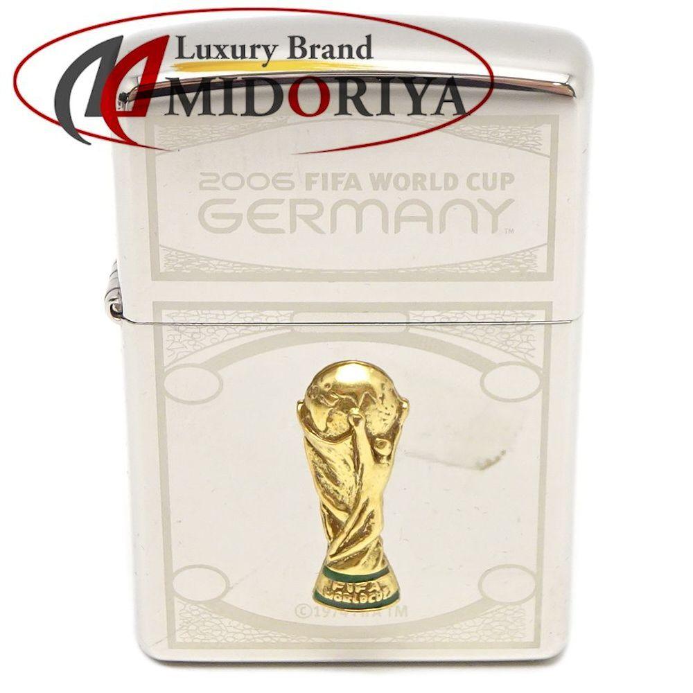 ジッポ ZIPPO ライター FIFAワールドカップ 2006年 ドイツ Germany オイルライター シルバーカラー /042032【中古】