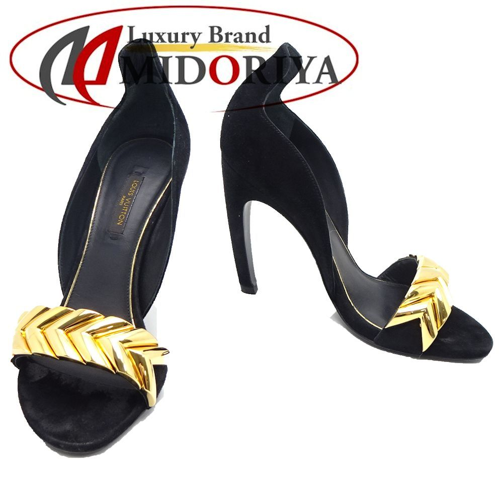 60996a72763 Pawn shop MIDORIYA PHASE  Louis Vuitton LOUIS VUITTON pumps Lady s size 36  approximately 22.5cm suede black  042063