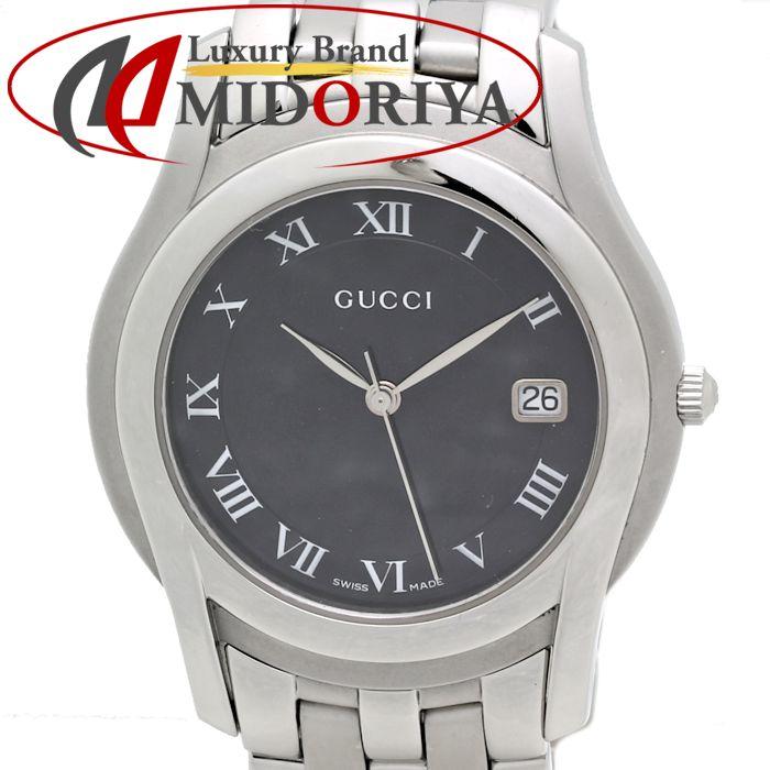 グッチ GUCCI Gクラス 5500M メンズ 黒文字盤 クオーツ /35268 【中古】 腕時計