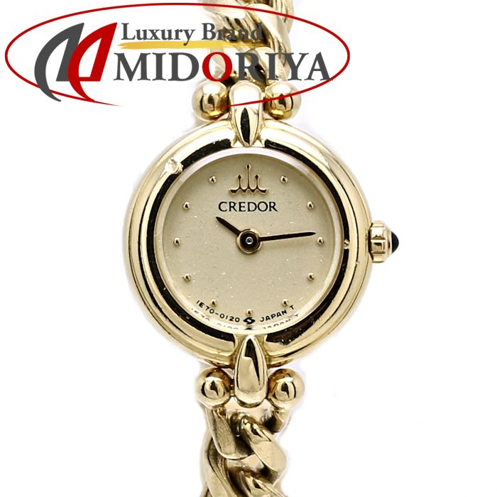 セイコー SEIKO CREDOR クレドール 18KTイエローゴールド無垢 1E70-0080 レディース /35287 【中古】 腕時計
