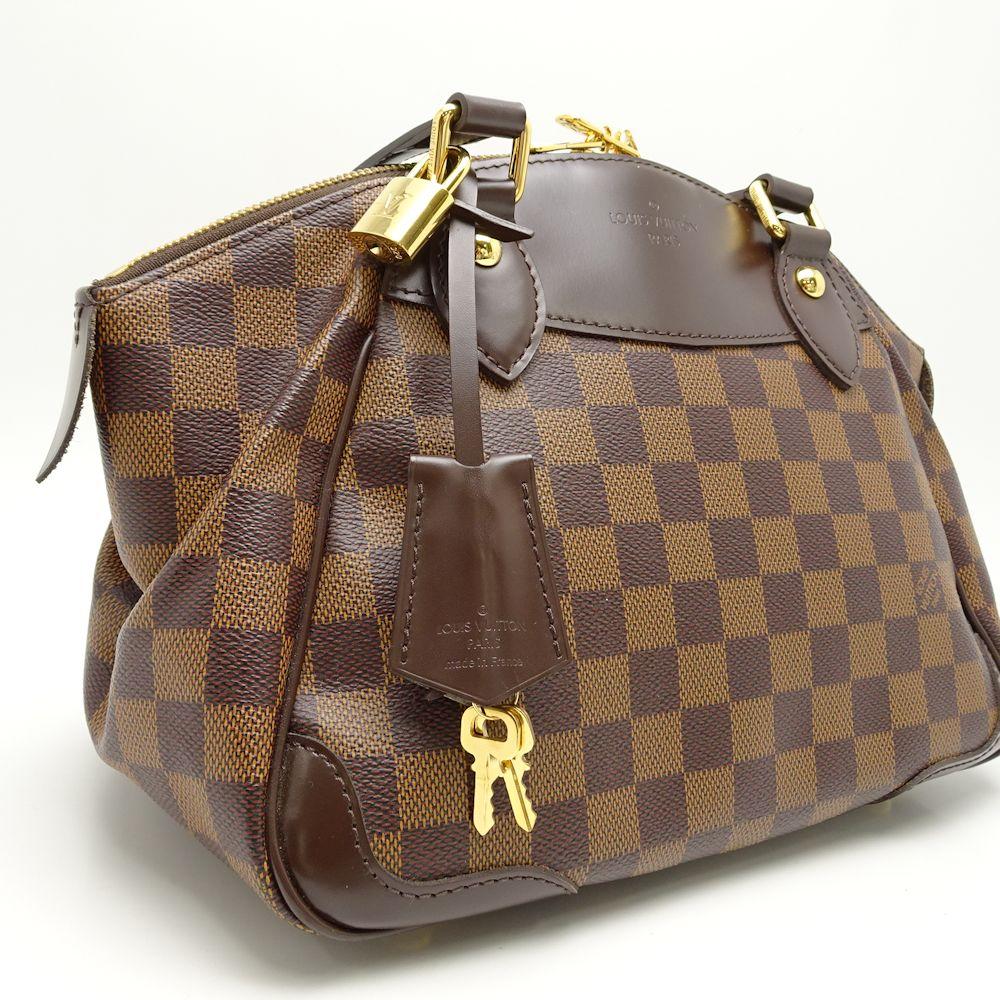 6236329afcc2 Authentic LOUIS VUITTON Damier Ebene Verona PM Handbag N41117  051232 FREE  SHIP