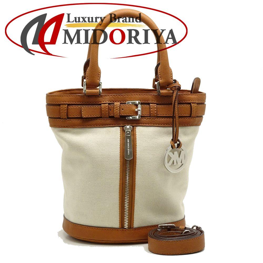 751ef5156756a6 Michael Kors MICHAEL KORS 2WAY tote bag canvas X leather white X tea  /051321 ...