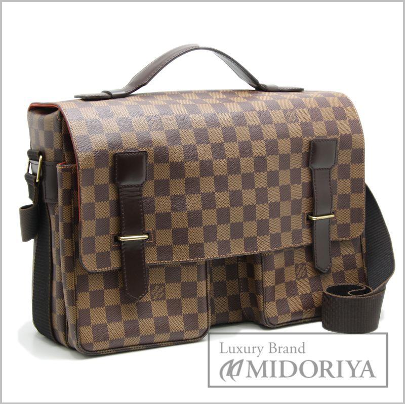 f68d648ada3 Louis Vuitton Vuitton bag Damier Broadway N42270 18666 even Brown Louis-Vuitton  LOUIS VUITTON Vitoria bag diagonally over the
