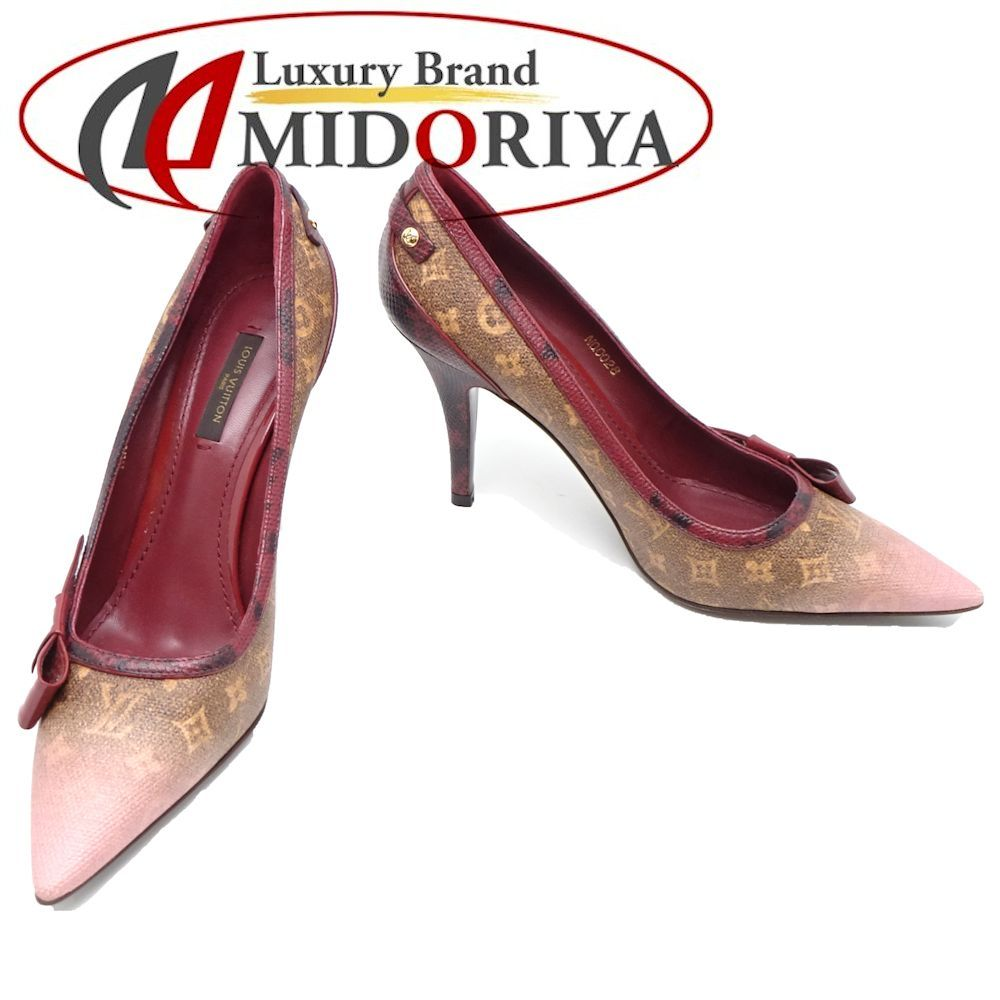 1ea1bb65ce1 Louis Vuitton LOUIS VUITTON pumps size 37 1 2 approximately 24cm pink brown  ☆ unused  042148 Lady s
