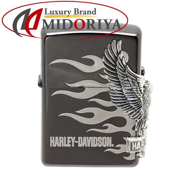 正規品販売! ジッポ ZIPPO ブラック ライター ライター ジッポ ハーレーダビッドソン Harley-Davidson ブラック/042851【中古】 オイルライター ジッポー, 東村山郡:e3acdfae --- canoncity.azurewebsites.net