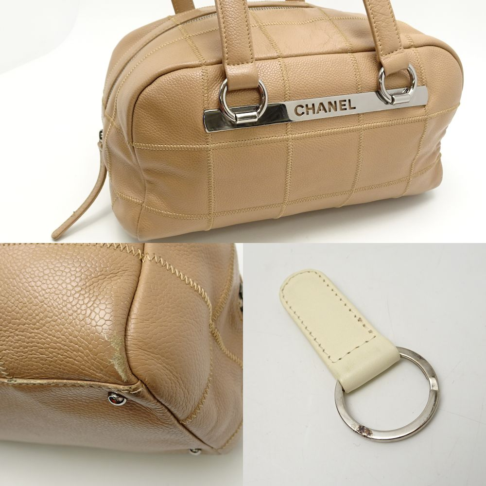 f70f360e5182 Pawn shop MIDORIYA PHASE: Chanel CHANEL A26135 chocolate bar handbag ...