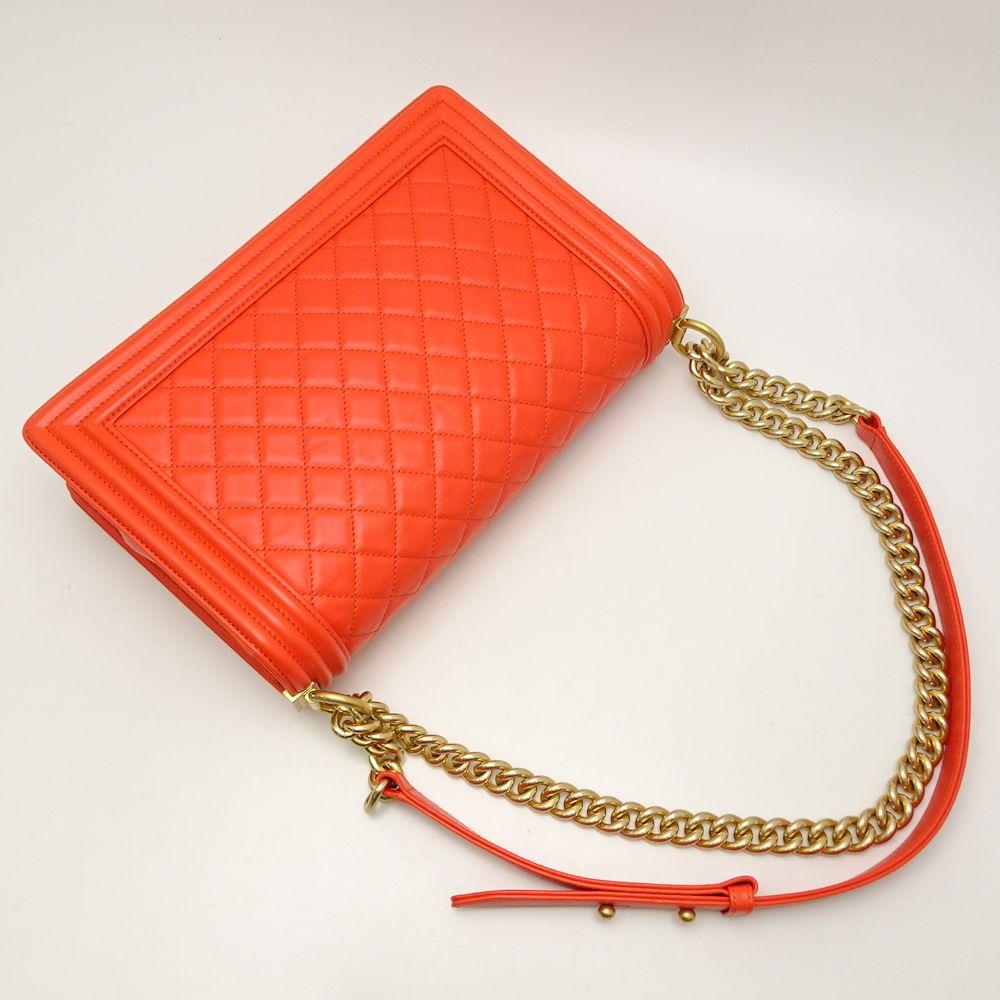 781aeccbaca4 Chanel CHANEL A67086 boy Chanel chain shoulder bag new medium orange  051777