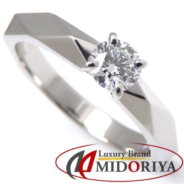 ブシュロン BOUCHERON ファセットソリテールリング ダイヤモンド0.23ct Pt950 #48 8号 一粒ダイヤモンドリング 指輪/098290【中古】